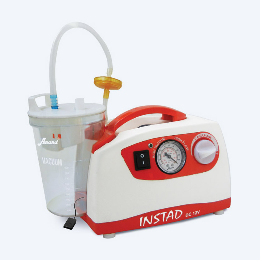 Instad DC Portable Suction Unit With Jar